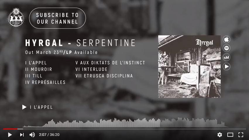 Hyrgal - Serpentine (Full Stream)